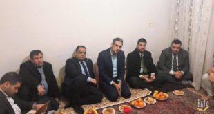 وفد الدائرة الثقافية بحضور معاون القنصل العام يتفقد الاقسام الداخلية للطلبة العراقيين في مشهد المقدسة